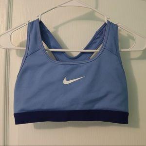 Blue Nike Sports bra